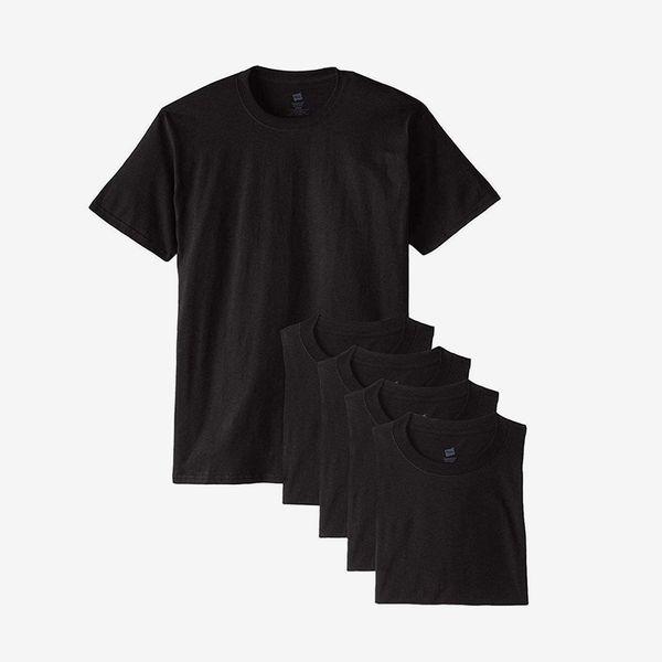Hanes ComfortSoft T-Shirt, Black (5-Pack)