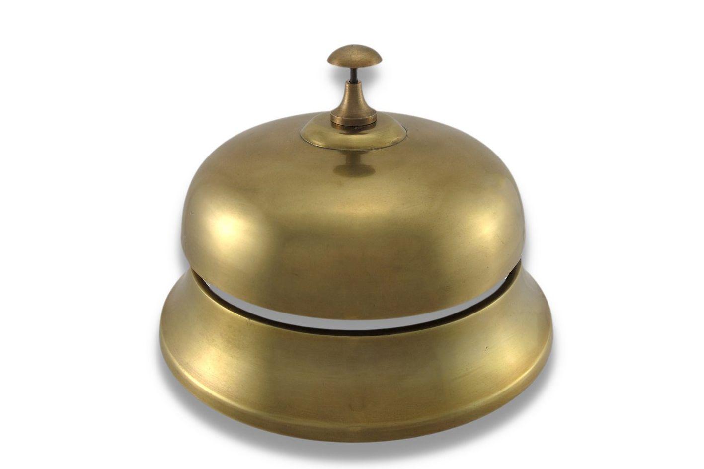 Upper Deck Oversized Brass Finish Aluminum Desk Bell