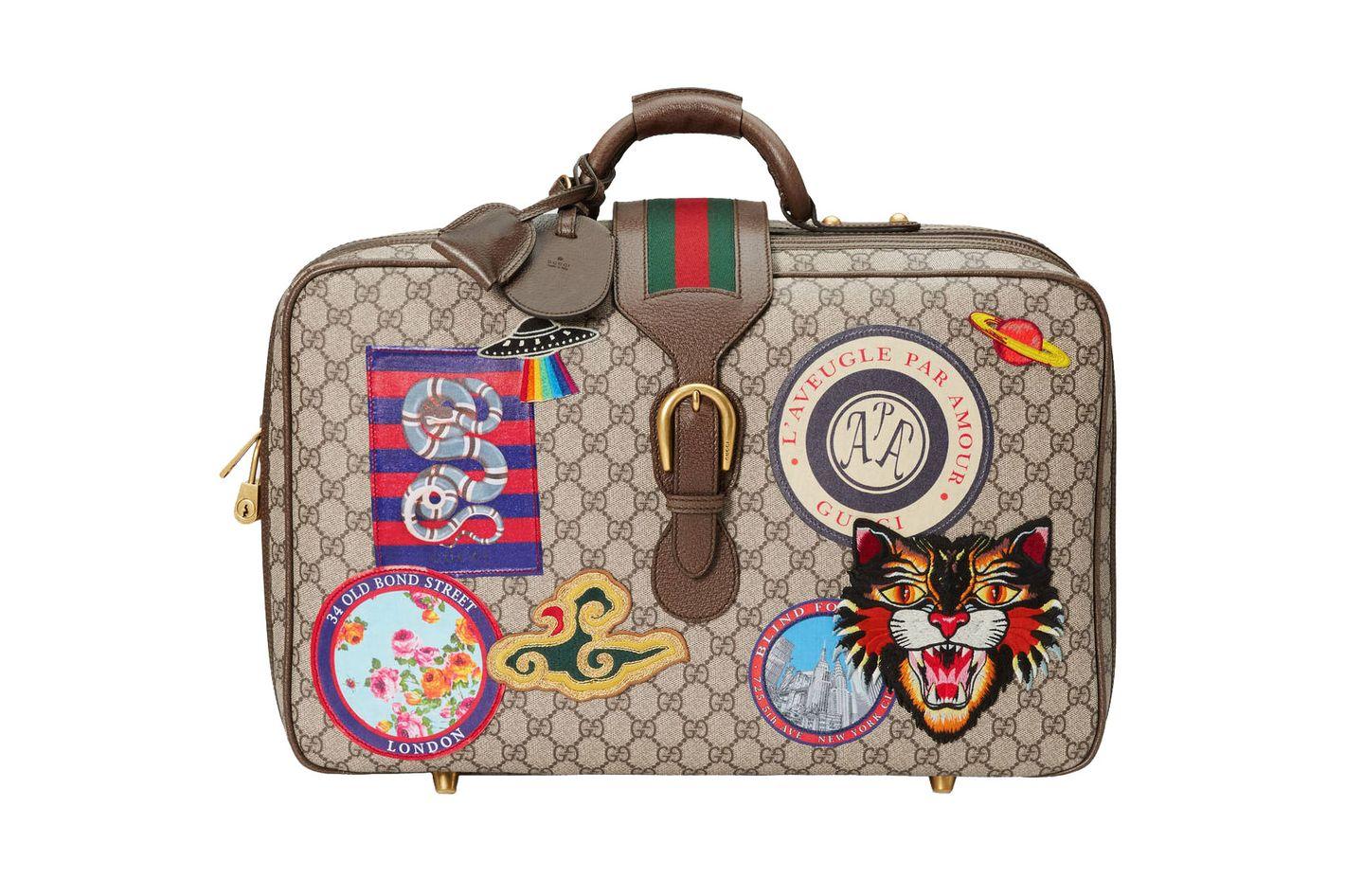 Gucci Courrier GG Supreme Suitcase