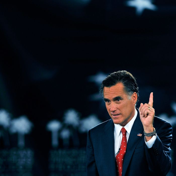 COLUMBIA, SC - SEPTEMBER 05: GOP Presidential candidate and former Massachusetts Governor Mitt Romney gestures as he answers a question during the American Principles Project Palmetto Freedom Forum, September 5, 2011 in Columbia, South Carolina. Herman Cain, Ron Paul, Michelle Bachmann and Newt Gingrich are also scheduled to attend the forum hosted by Sen. Jim DeMint (R-SC). Texas Governor Rick Perry was scheduled to attend as well, but he decided to return to Texas because of the wildfires burning across the state. (Photo by Stephen Morton/Getty Images)