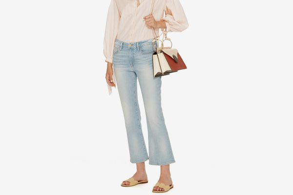 Frame Denim Adeline Le Crop Mid-Rise Bootcut Jeans