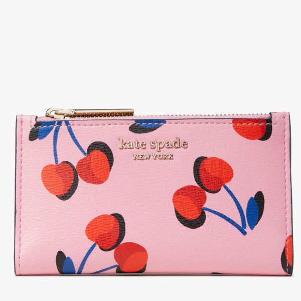 Kate Spade Spencer Cherries Small Slim Bifold Wallet