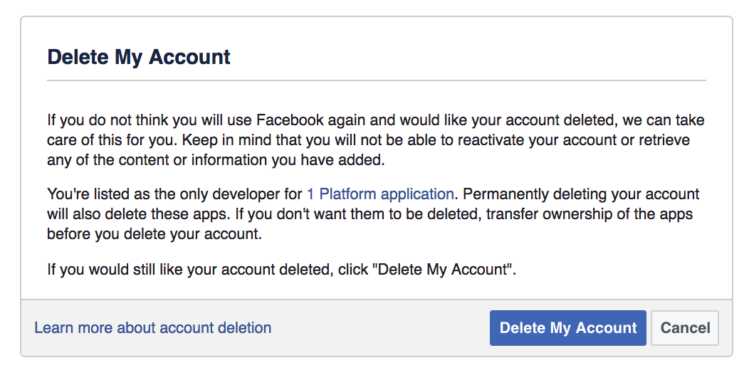 How to delete facebook permanently ccuart Images
