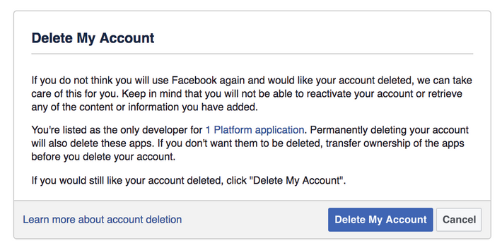 How to delete facebook permanently how to quit ccuart Gallery