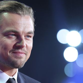 QINGDAO,CHINA - SEPTEMBER 22:US actor Leonardo DiCaprio attends the official launch of Qingdao Oriental Movie Metropolis on Sunday Sep 22,2013 in Qingdao,Shandong province,China.(Photo by TPG/Getty Images)
