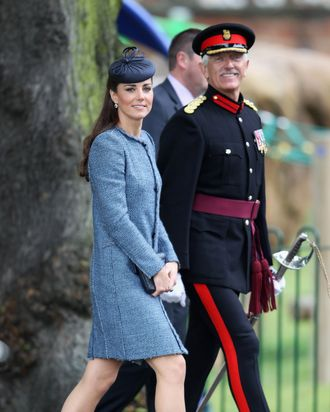 Catherine, Duchess of Cambridge visits Vernon Park during a Diamond Jubilee visit to Nottingham on June 13, 2012 in Nottingham, England.