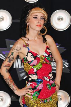 Best new artist nominee Kreayshawn arrives at the 2001 MTV Video Music Awards (VMAs) August 28, 2011 at the Noika Theatre in downtown Los Angeles, California.   AFP PHOTO / Frederic J. Brown (Photo credit should read FREDERIC J. BROWN/AFP/Getty Images)