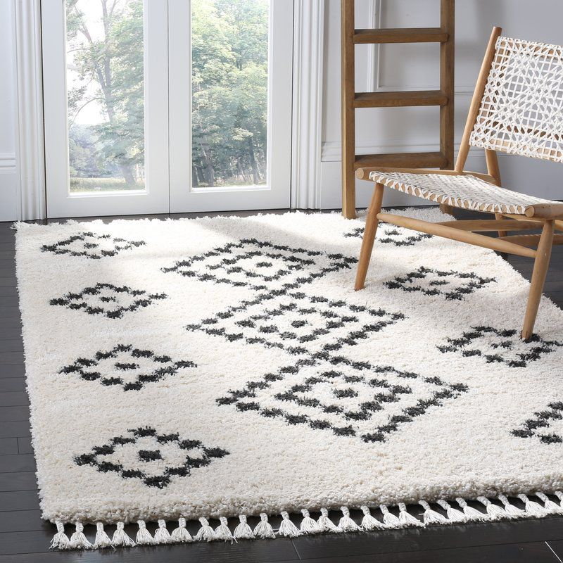 Bungalow Rose Morgan Black/Beige Area Rug