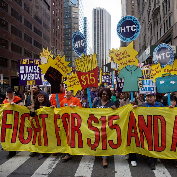 Fast-Food Workers Celebrate Minimum-Wage Victory As Franchisees Fight Back