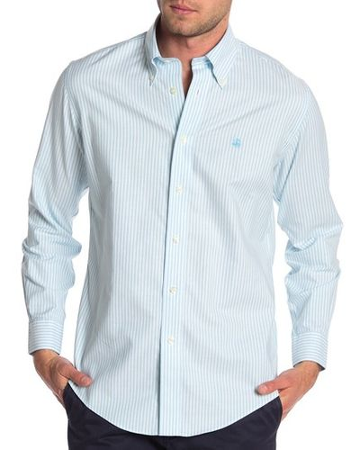 Brooks Brothers Bengal Striped Long Sleeve Slim Fit Shirt