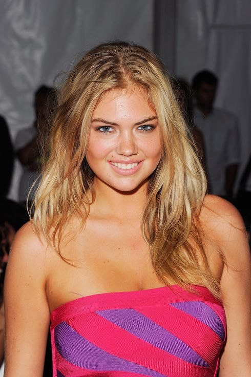 Model Kate Upton attends Caffe Swimwear show during Mercedes-Benz Fashion Week Swim on July 16, 2011 in Miami Beach, Florida.