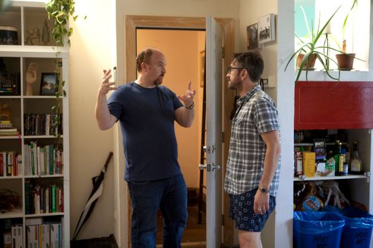 LOUIE: Episode 7: Ikea/Piano Lesson (Airs Thursday, August 9, 10:30 pm e/p). Pictured: L-R: Louis C.K. as Louie, Marc Maron as Marc.