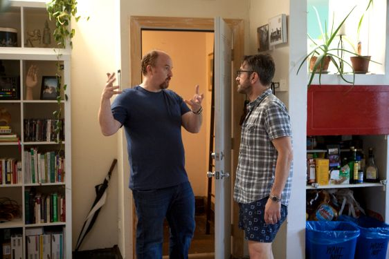 LOUIE: Episode 7: Ikea/Piano Lesson (Airs Thursday, August 9, 10:30 pm e/p). Pictured: L-R: Louis C.K. as Louie, Marc Maron as Marc. CR: K.C. Bailey/FX