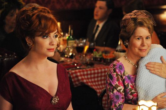 Joan Harris (Christina Hendricks) and Gail Holloway (Christine Estabrook)