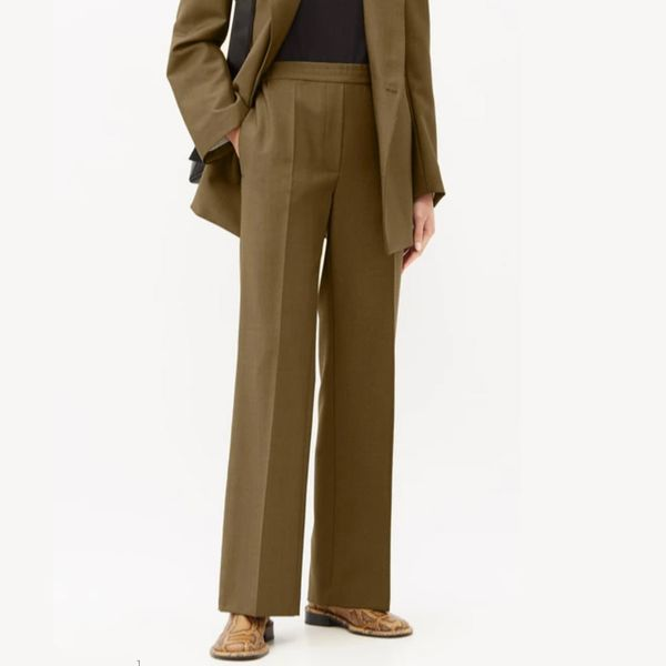 Acne Studios Paminne Wool Blend Suit Trousers