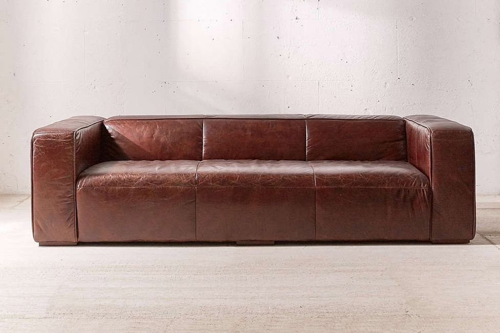 Baker Leather Sofa