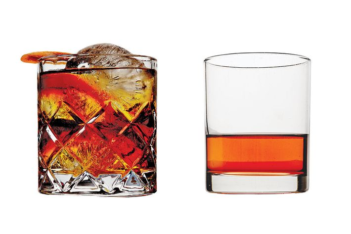 From left: Navy's Lower Manhattan, Thomas Carter's Sazerac.