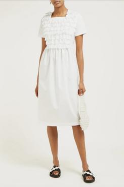 white commes des garcons comtton poplin dress