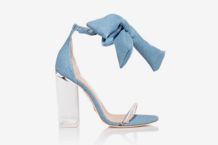 Denim Caroline Heel