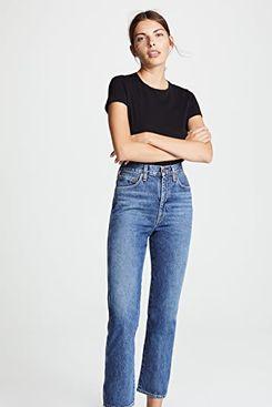 AGOLDE High Rise Kick Pinch Waist Jeans