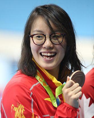 Fu Yuanhui after winning her bronze medal.