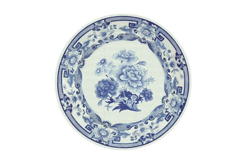 Entertaining With Caspari Entertaining Dinner Plates, Blue and White, Pack of 16
