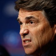 Rick Perry making a scary face.