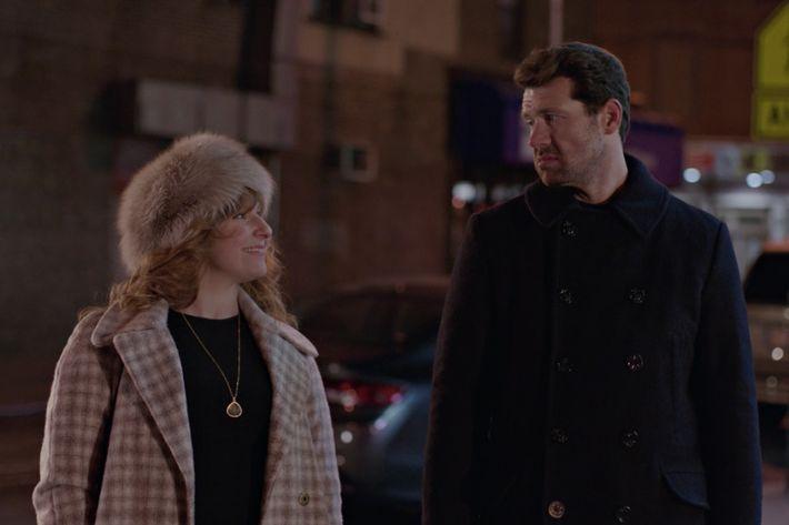 Julie Klausner as Julie, Billy Eichner as Billy.