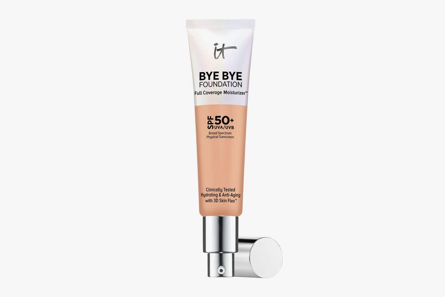 Bye Bye Foundation Full Coverage Moisturizer with SPF 50+ Medium Tan
