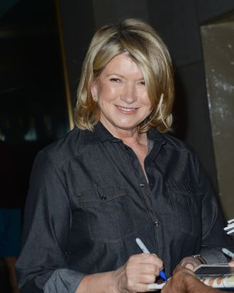 TV personality Martha Stewart leaves the