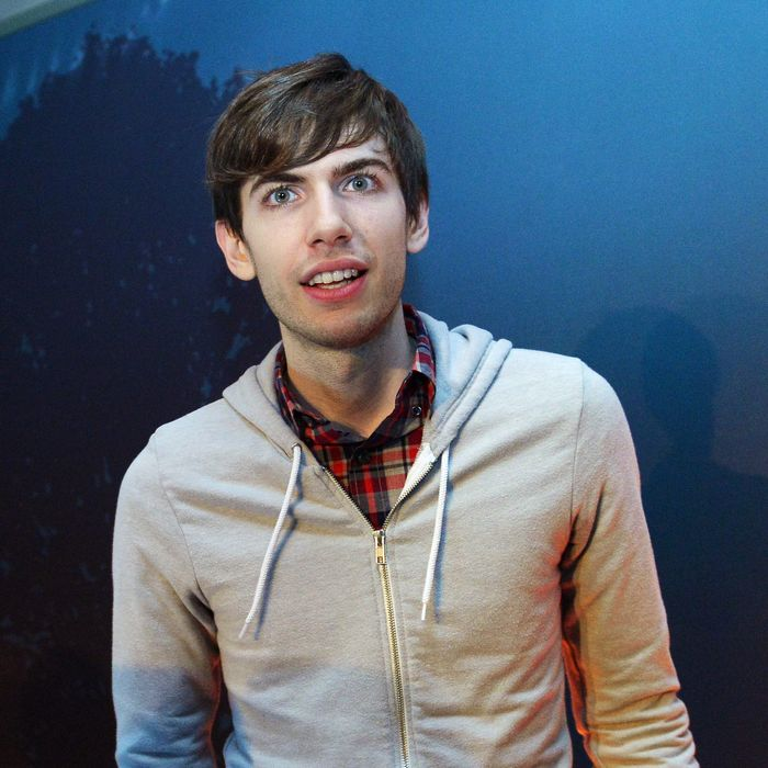Tumblr founder David Karp walks during an announcement that Yahoo acquired the Tumblr blogging site in order to upgrade its Flickr site, in New York, May 20, 2013. Yahoo announced a $1.1 billion deal for blogging site Tumblr aiming to help Yahoo to tap into the younger, active online user base at Tumblr.
