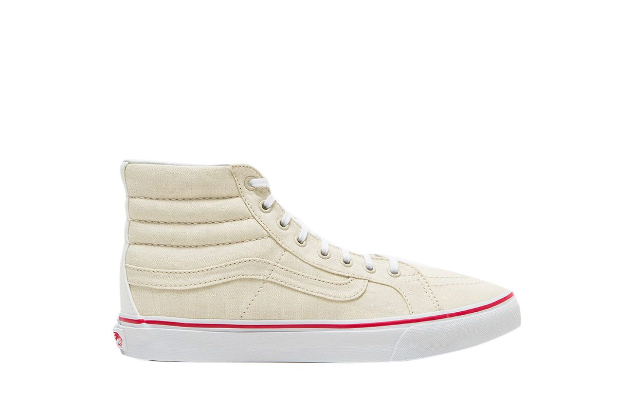 Vans Sk8-Hi Slim in Bone/True White