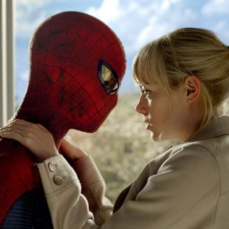 Andrew Garfield as Spider-Man and Emma Stone star in Columbia Pictures'