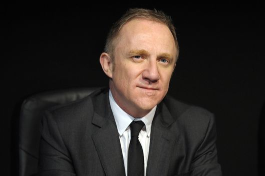 French luxury group Kering head Francois-Henri Pinault poses before a press conference in Paris to announce the group's 2013 results on February 21, 2014.