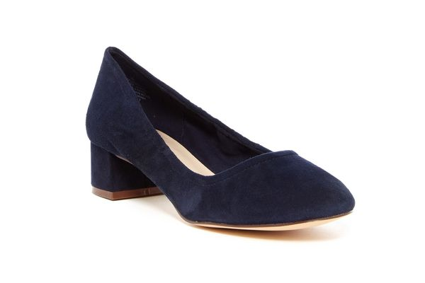 Nine West Edwards Low Block Heel Pump