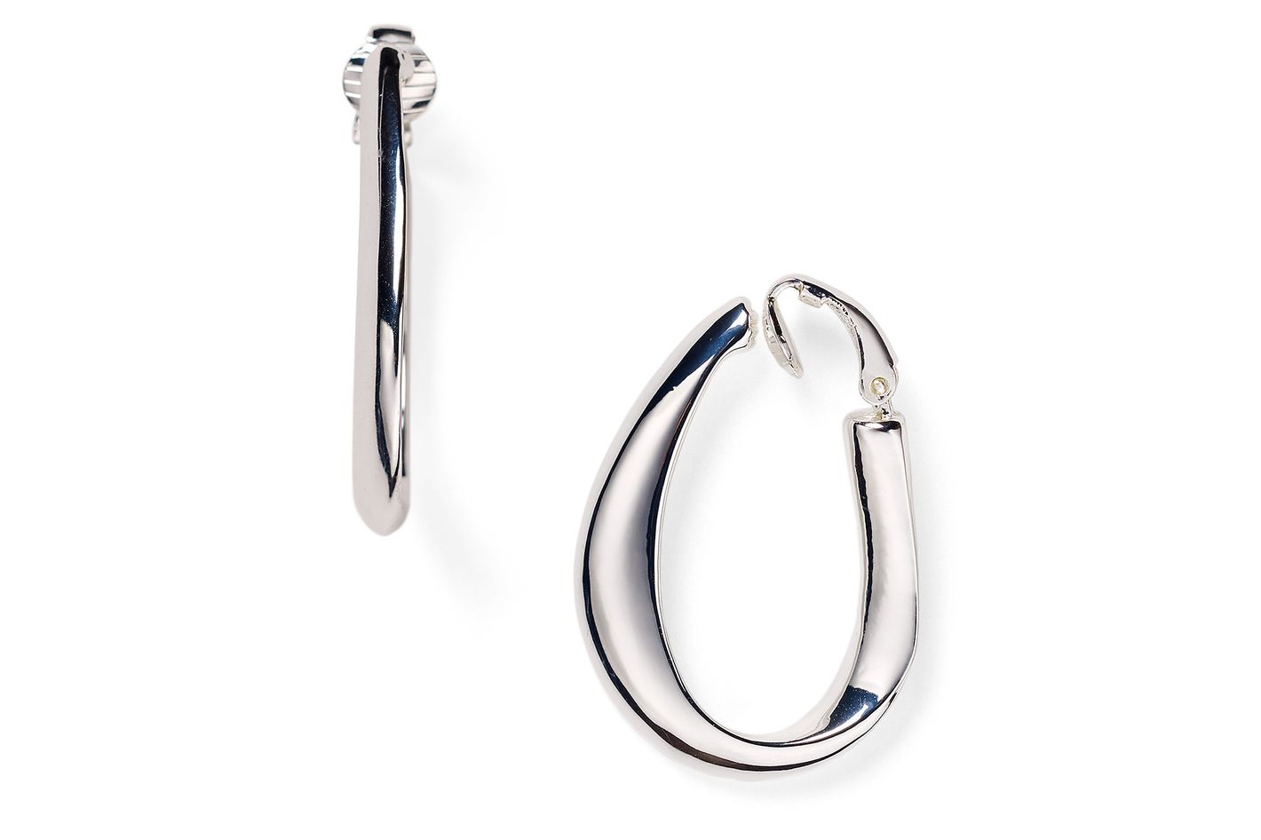 Lauren Ralph Large Sculptural Clip On Hoop Earrings