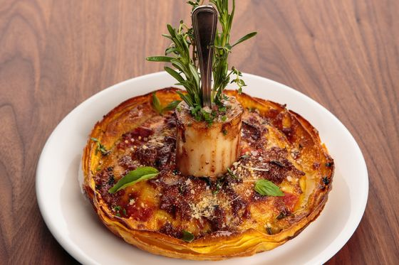 Florian's bone-marrow lasagna.