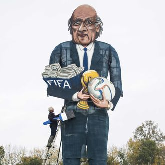 BRITAIN-LIFESTYLE-FBL-FIFA-CORRUPTION-BLATTER-OFFBEAT