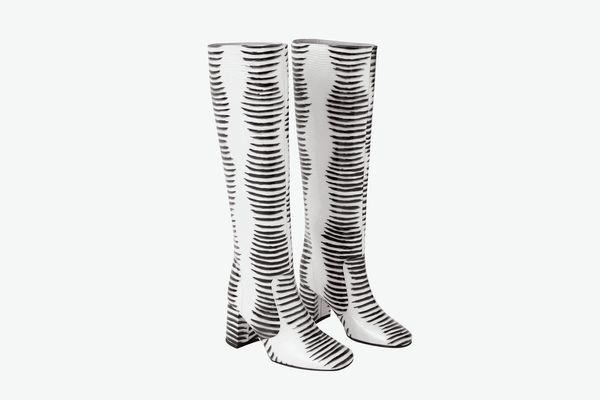 Maryam Nassir Zadeh Lune Boot, Zebra Patent