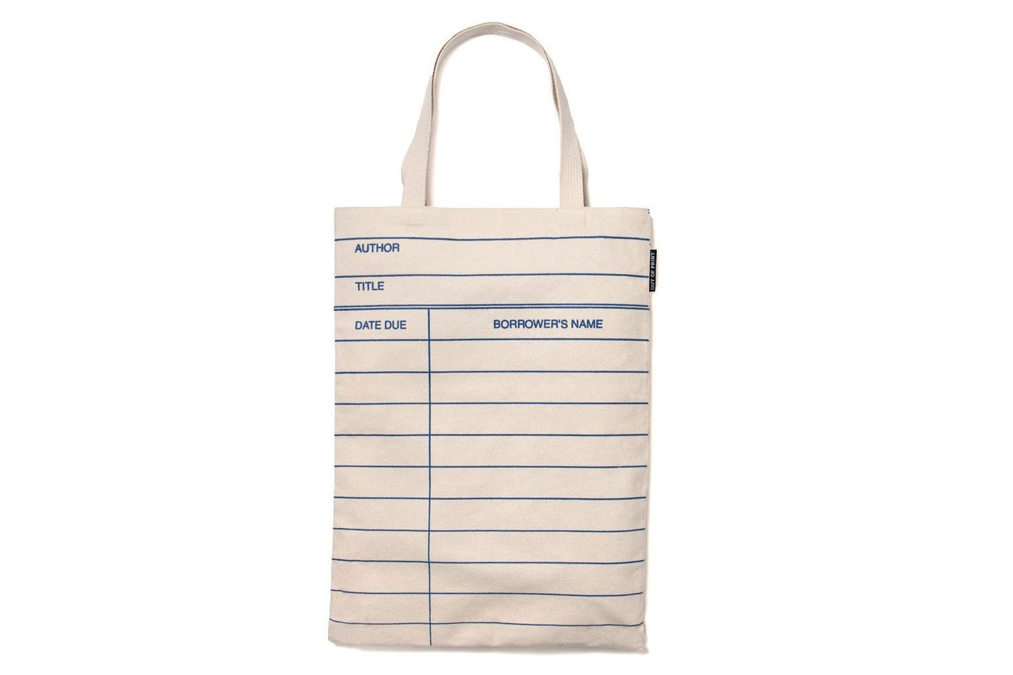 Out of Print Library-Card Tote Bag