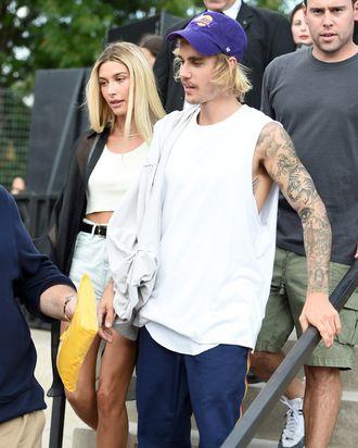 Hailey Baldwin and Justin Bieber.