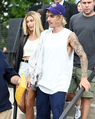 Justin Bieber and Hailey Baldwin Hit Up the Marriage Bureau