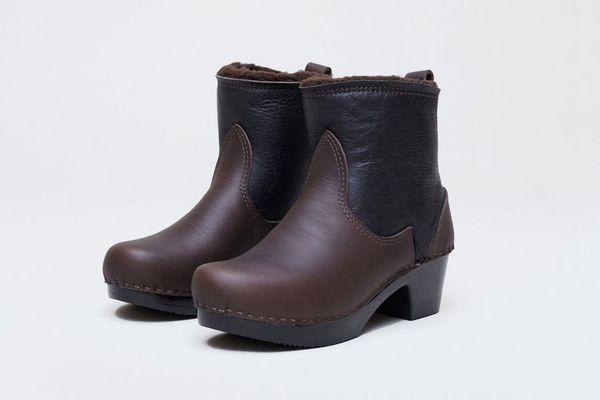No.6 Pull On Shearling Clog Boot