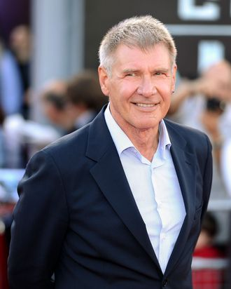 Actor Harrison Ford attends the 'Cowboys and Aliens' UK film premiere at the 02 Arena on August 11, 2011 in London, England.