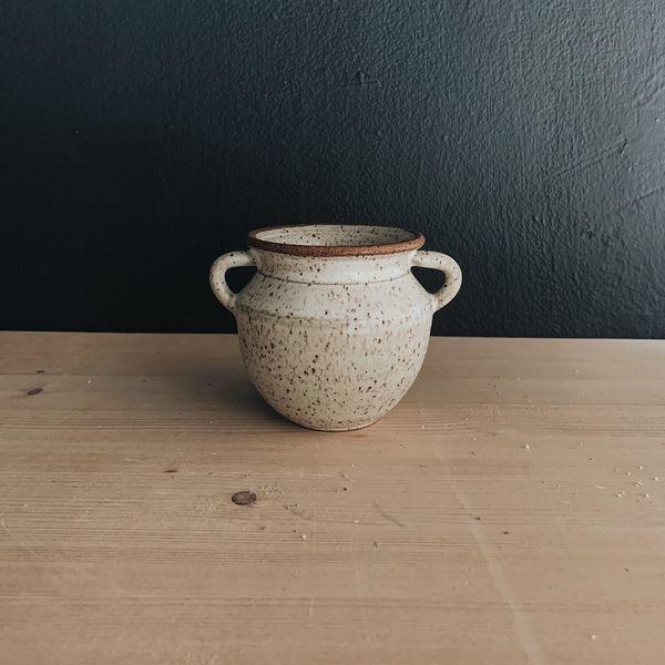 Sam Lee Mini Vase 2- Matte White Speck