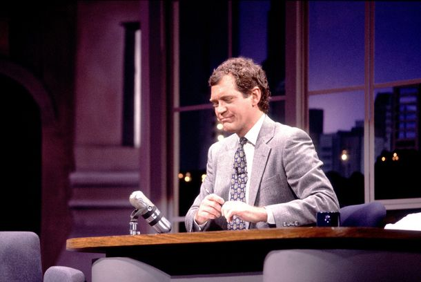 David Letterman on 5/1/89 in Chicago, Il. in Various Locations, (Photo by Paul Natkin/WireImage)
