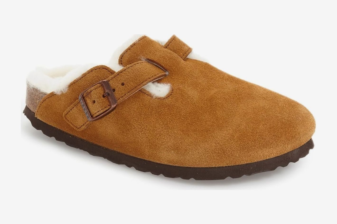 f3317db04a6c Birkenstock Boston Genuine Shearling Lined Clog Mink Suede