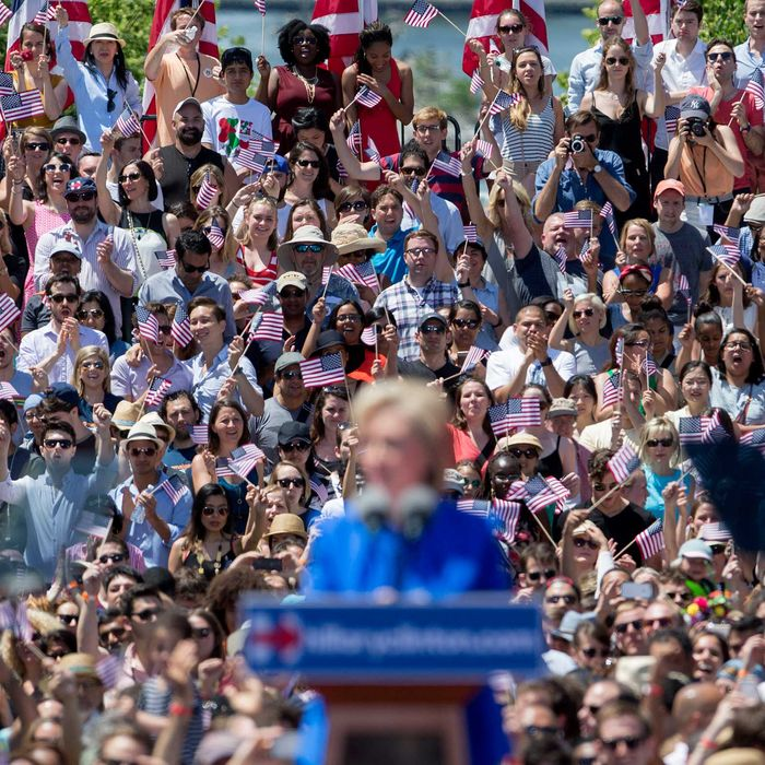 Presidential Candidate Hillary Clinton Official Campaign Launch