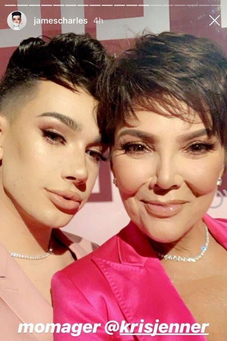 James Charles and Kris Jenner.