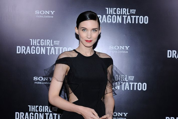 "Rooney Mara attends the ""The Girl With the Dragon Tattoo"" New York premiere at Ziegfeld Theater on December 14, 2011 in New York City."